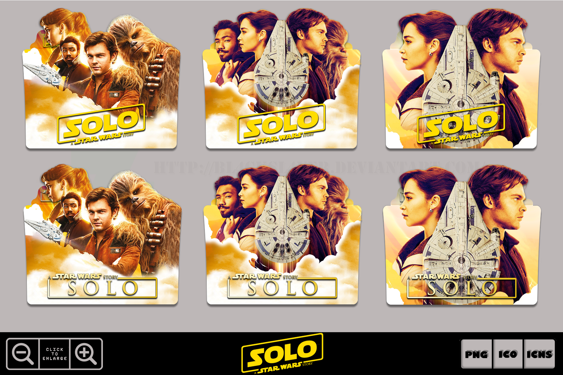 Solo A Star Wars Story 2018 Folder Icon Pack 1 By Bl4cksl4yer On Deviantart