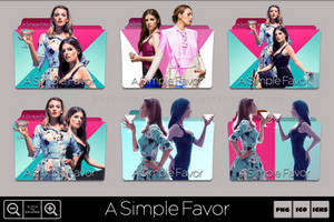 A Simple Favor (2018) Folder Icon Pack by Bl4CKSL4YER