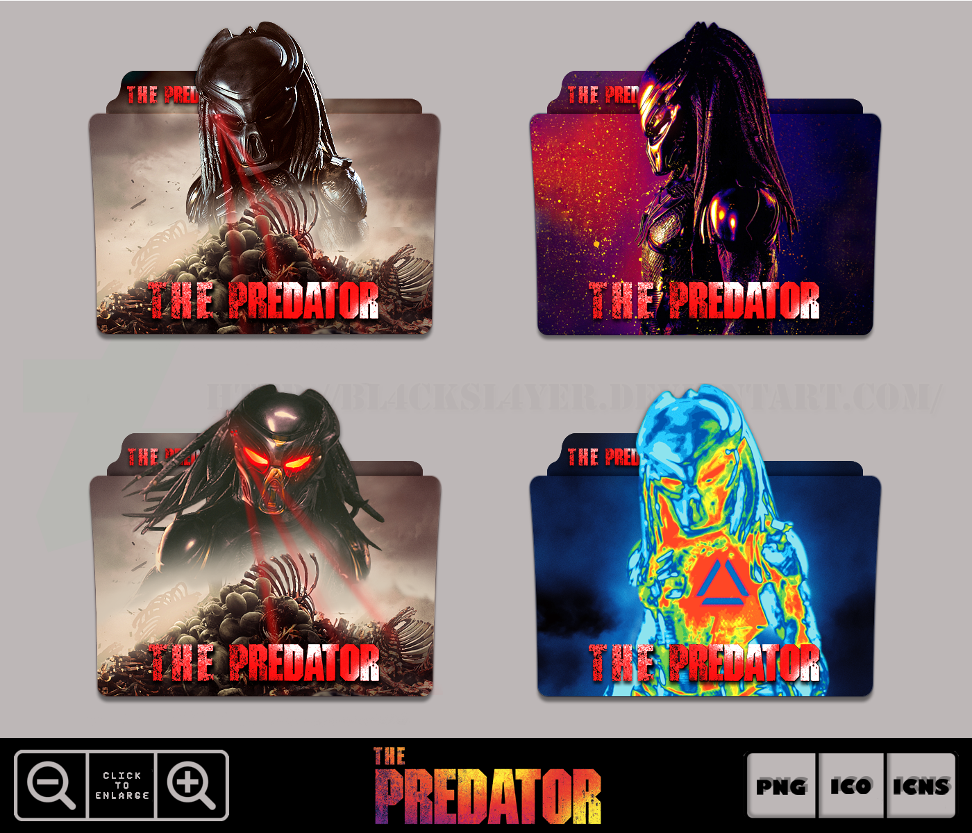 The Predator (2018) Folder Icon Pack by Bl4CKSL4YER