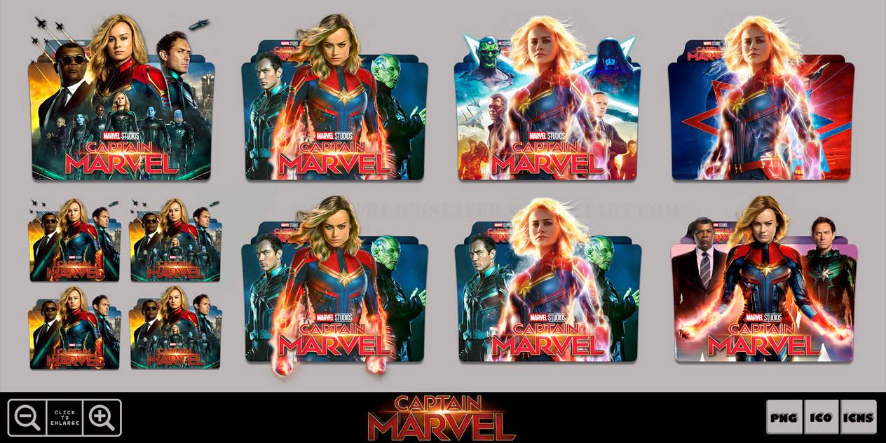 Captain Marvel (2019) Folder Icon Pack by Bl4CKSL4YER on DeviantArt