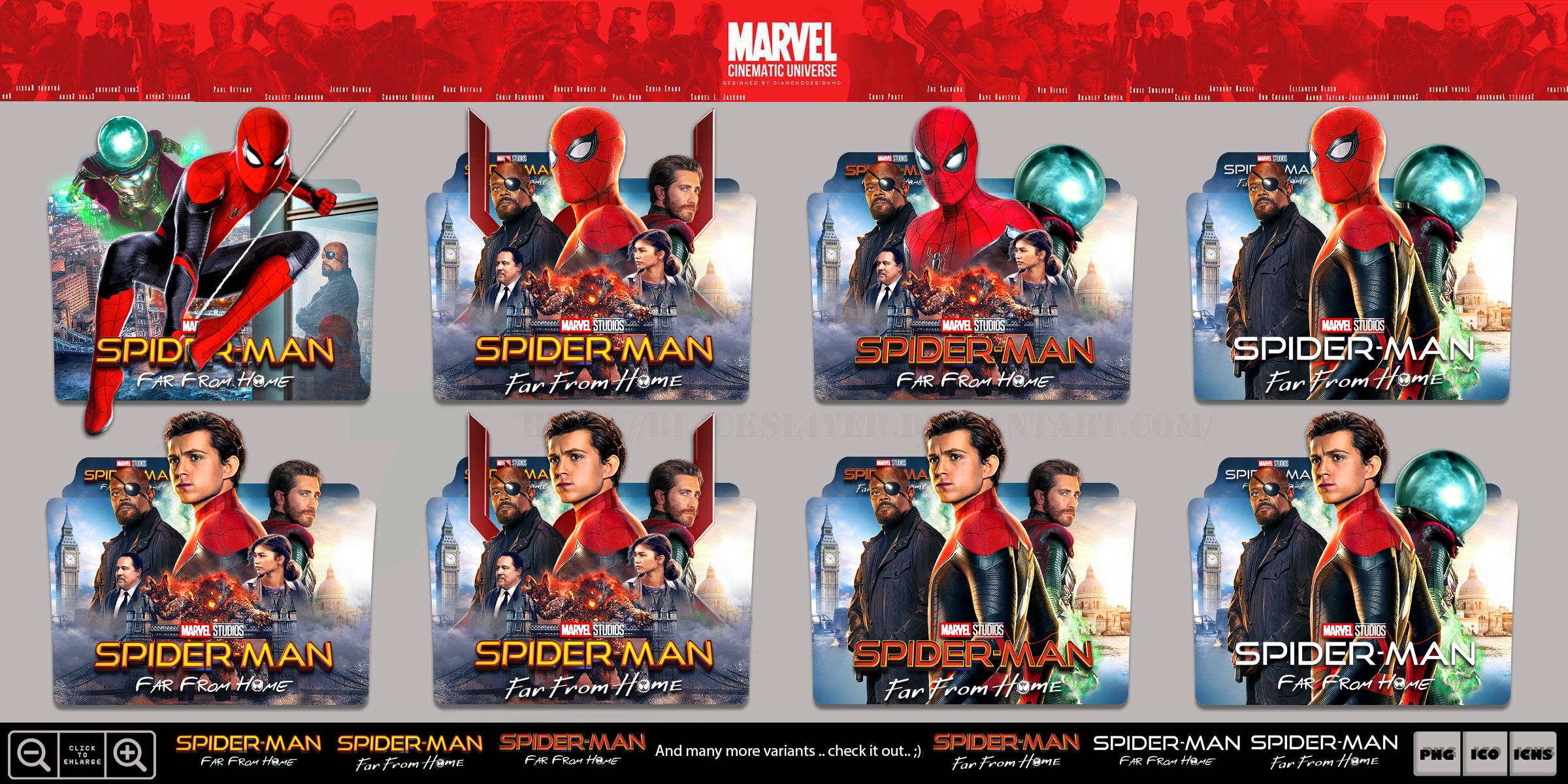 Spider Man Far From Home 2019 Folder Icon Pack By Bl4cksl4yer On Deviantart