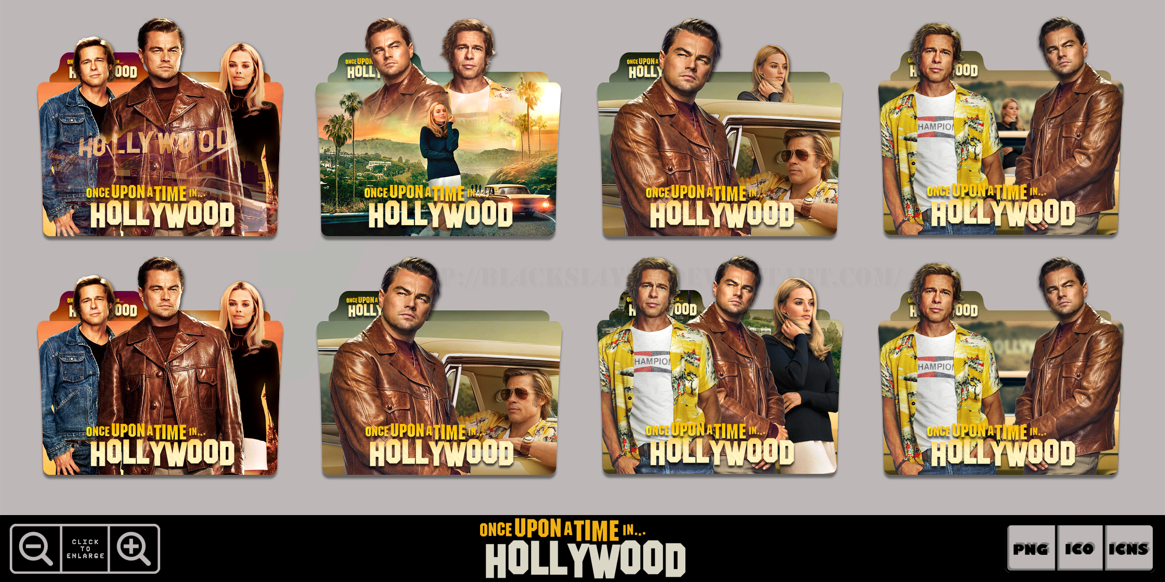 Once Upon A Time In Hollywood 2019 Icon Pack By Bl4cksl4yer On Deviantart