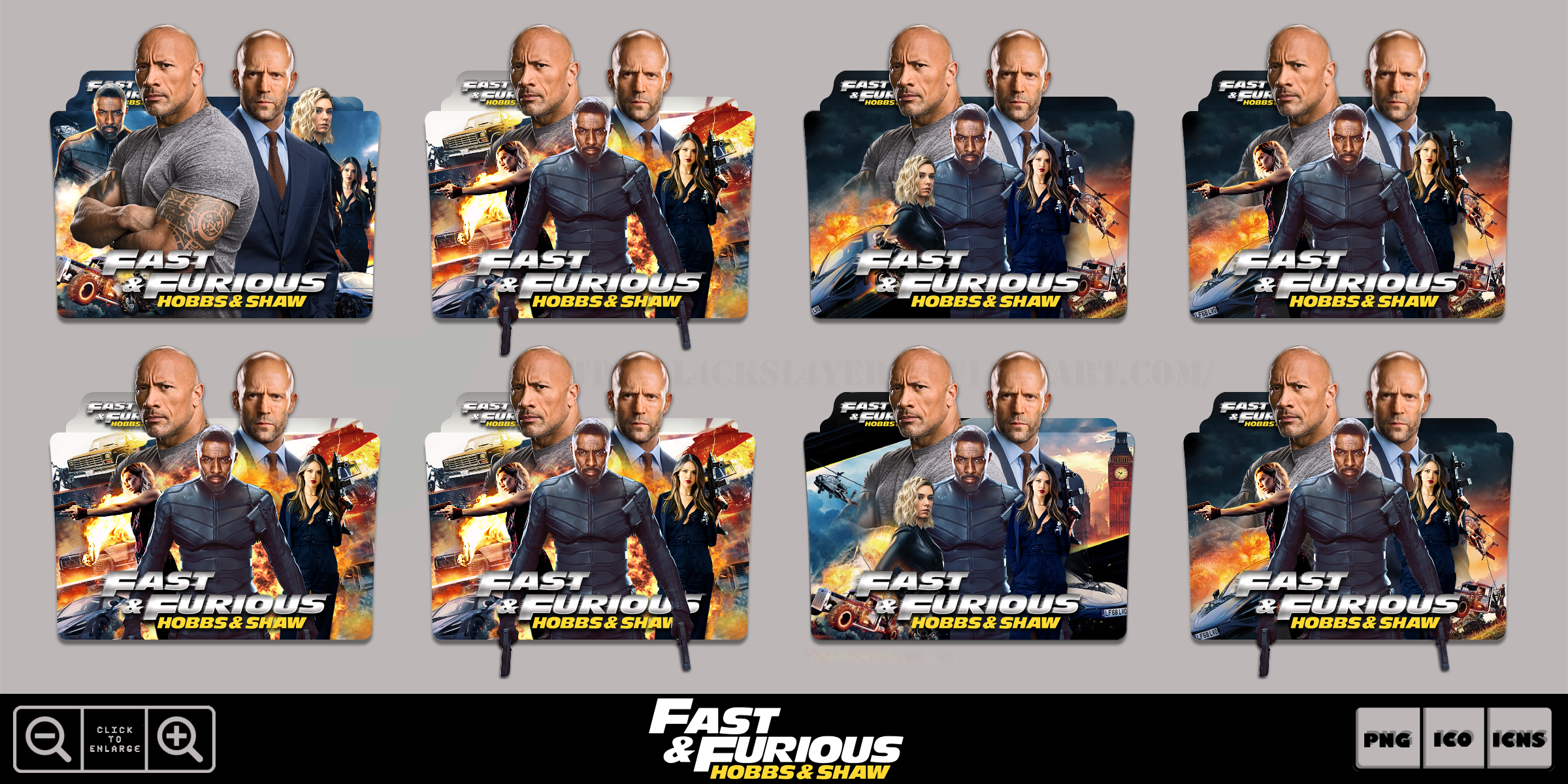 Fast And Furious Hobbs And Shaw 2019 Icon Pack By Bl4cksl4yer On Deviantart