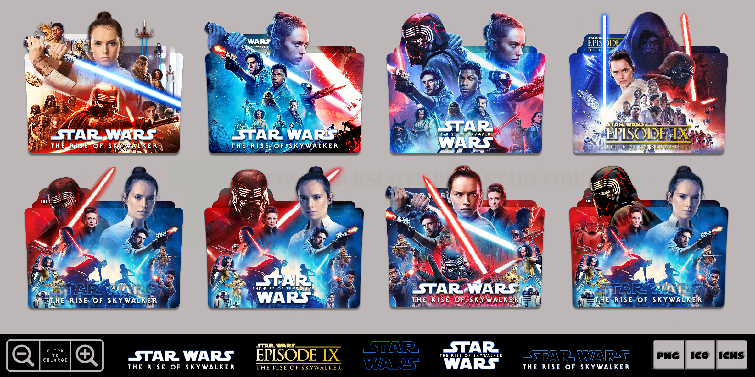 Star Wars Rise Of Skywalker 2019 Folder Pack By Bl4cksl4yer On Deviantart