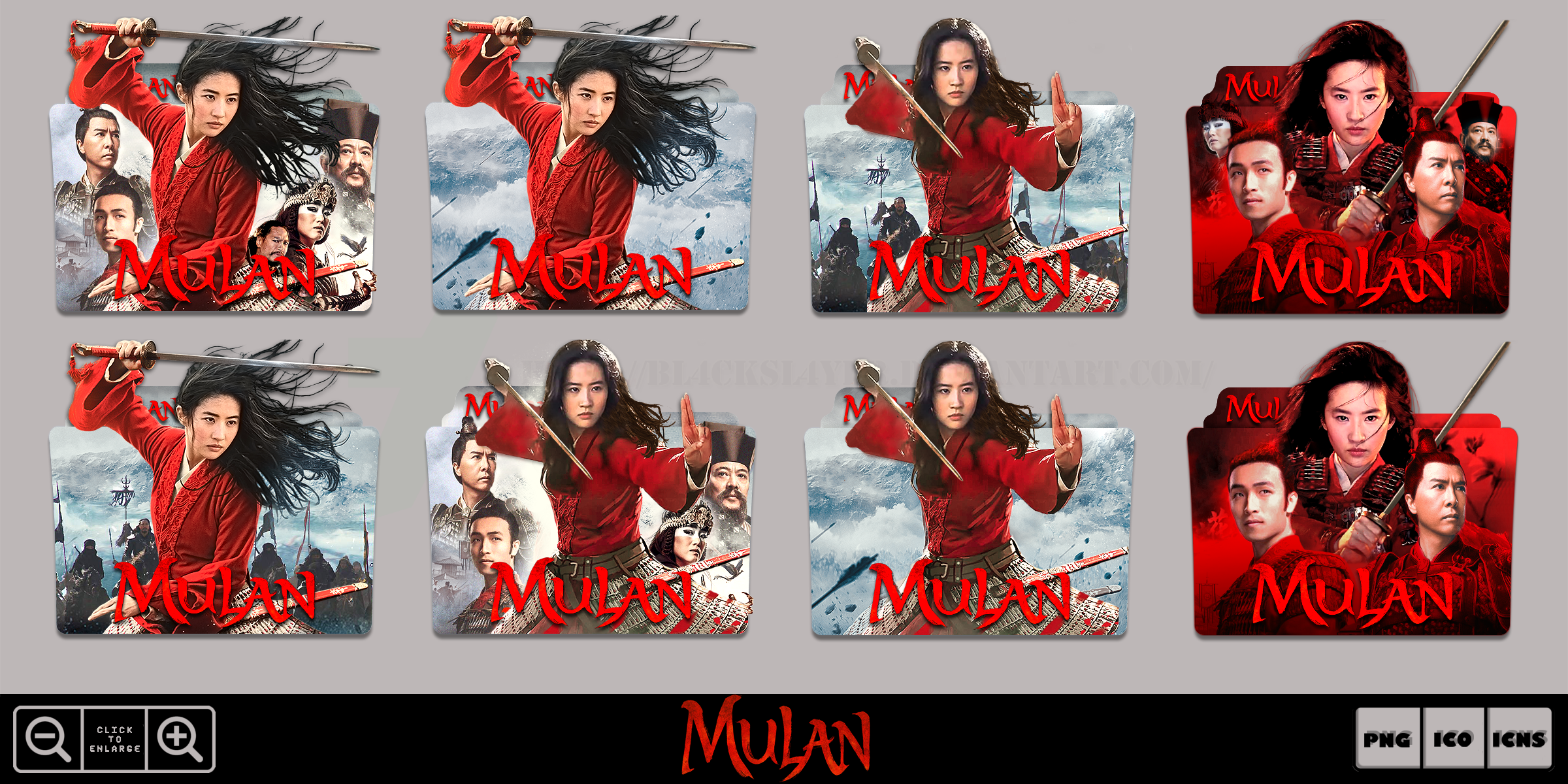 Mulan 2020 Movie Folder Icon Pack By Bl4cksl4yer On Deviantart
