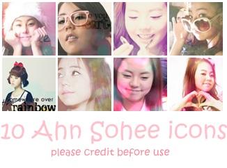 10 Ahn Sohee Icons by geegeemagic