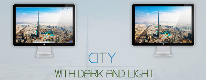 City with dark and light