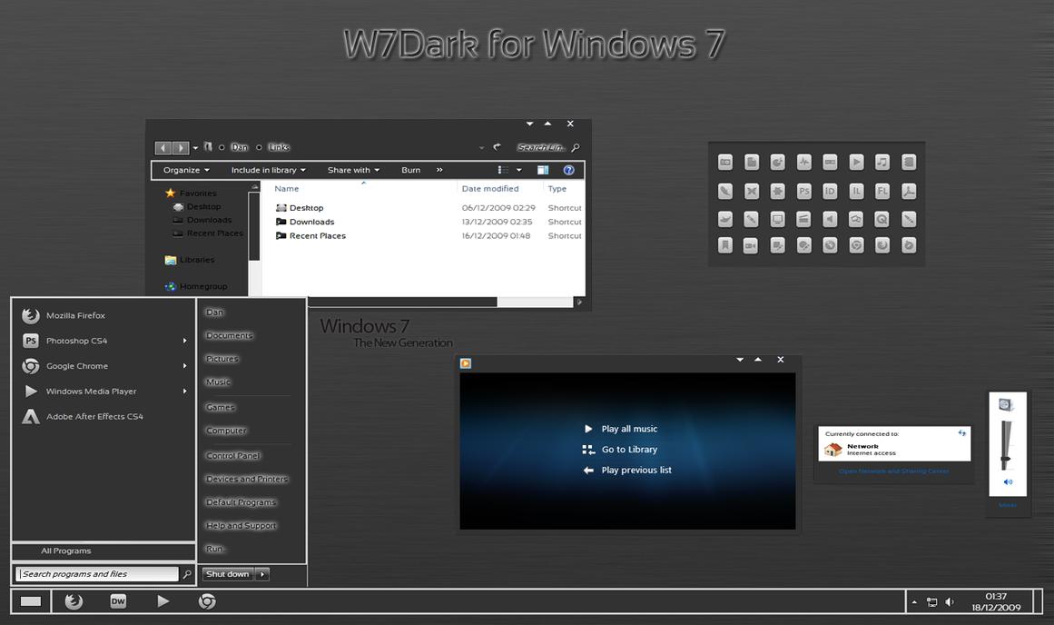 W7Dark for Windows 7 by Creativityx