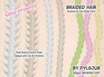 Braided Hair Brush Set