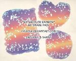 Watercolor Rainbow BG Pack