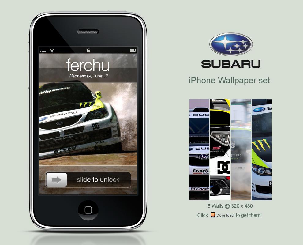 subaru iphone wallpaper set by ferchu on deviantart