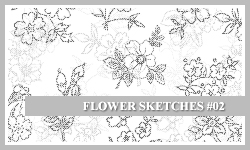 PS7 Brushes: Flower Sketches 2 by SacredLies