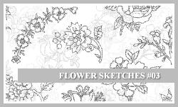 PS7 Brushes: Flower Sketches 3 by SacredLies