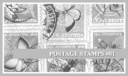 PS7 Brushes: Postage Stamps by SacredLies