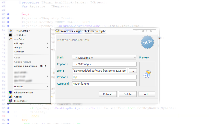 Right Click Context Menu 4Win7 by MicroZaft