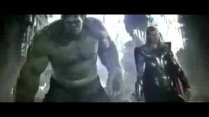 The Anvengers - Hulk Punches Thor by YueShirosaki