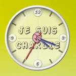 Je suis CHARLIE Conky Clock