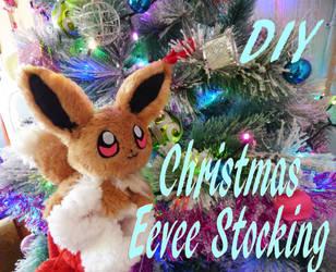 Christmas Eevee stocking tutorial by chocoloverx3