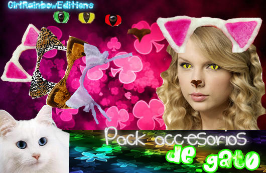 Pack Png Accesorios De Gato by GirlRainbowEditions