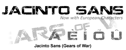 Gears of War font by tracertong