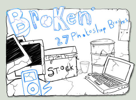 'Broken' Photshop Brushes