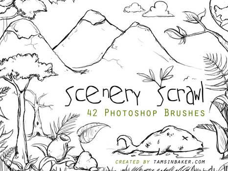 Scenery Scrawl PS Brushes