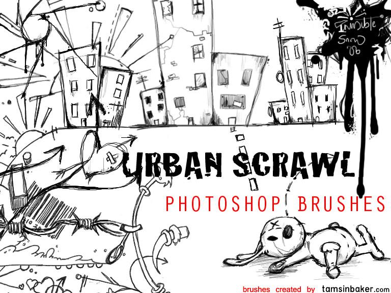 Urban Scrawl Photoshop Brushes