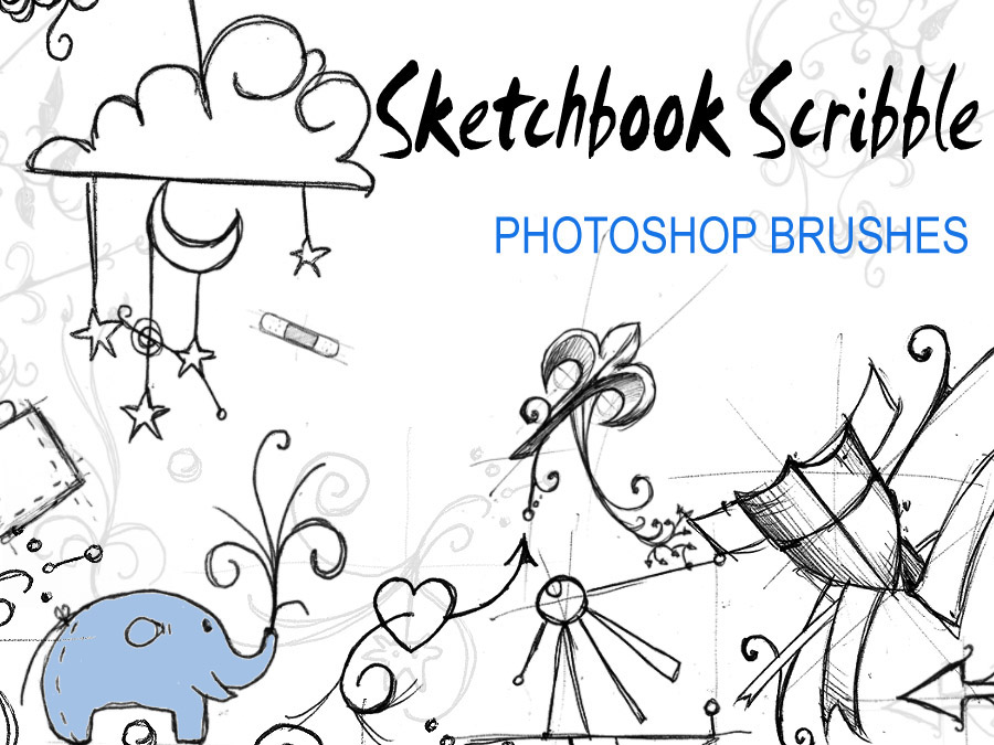 Sketchbook Scribble Brushes by InvisibleSnow