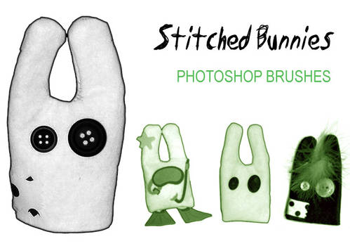 Stitched Bunnies Brushes