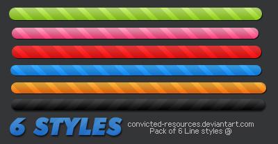 6 Lines Styles