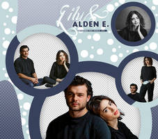 PACK PNG #23 | LILY COLLINS AND ALDEN EHRENREICH by oncesoul