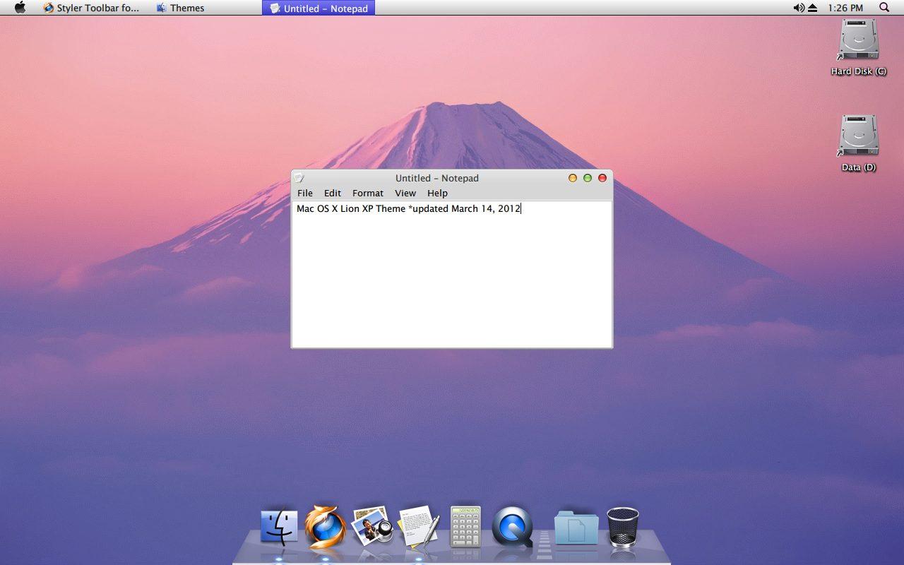 install mac os x lion sur windows xp