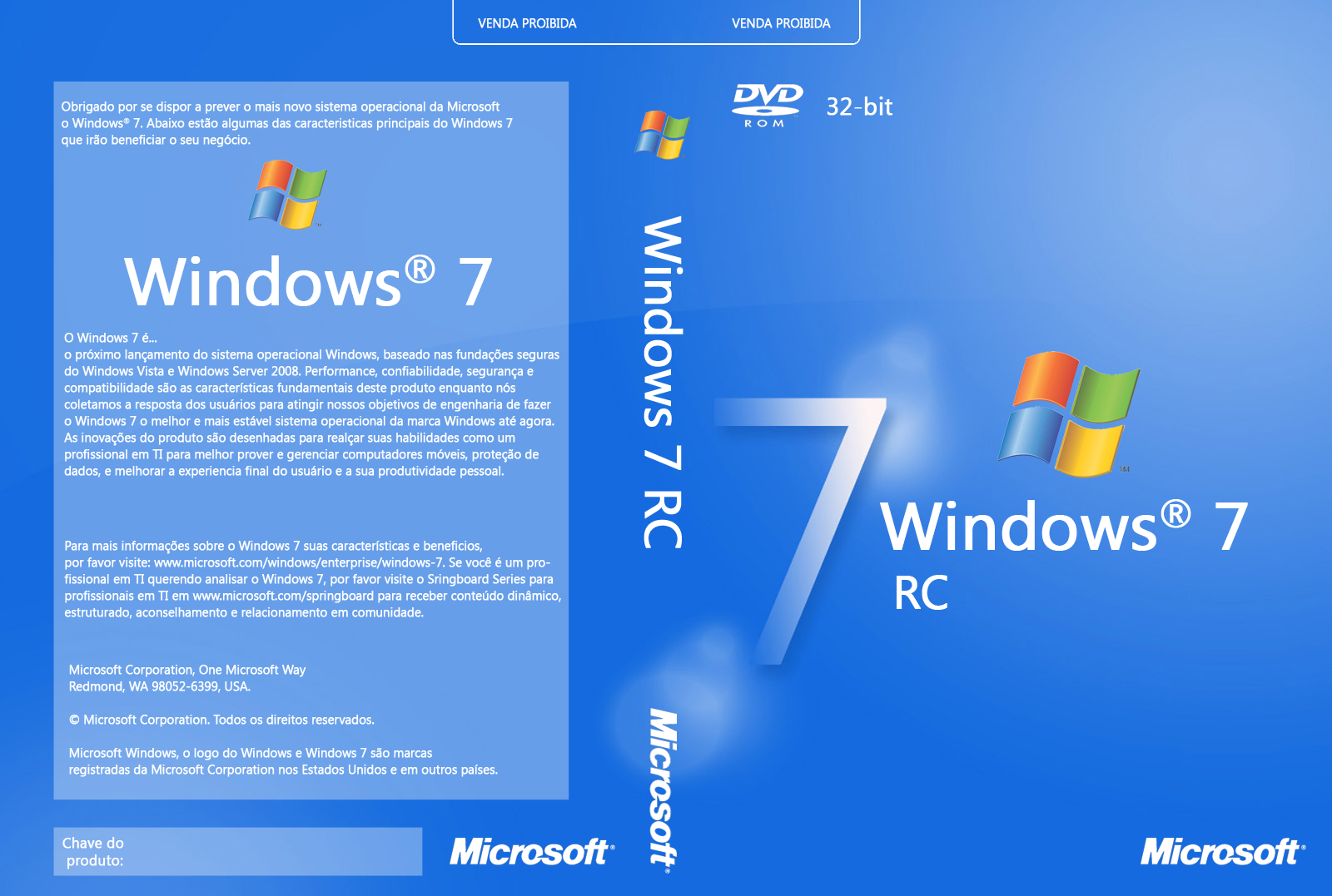 windows 7 rc 7100 cover cd br by genesman on deviantart. Black Bedroom Furniture Sets. Home Design Ideas