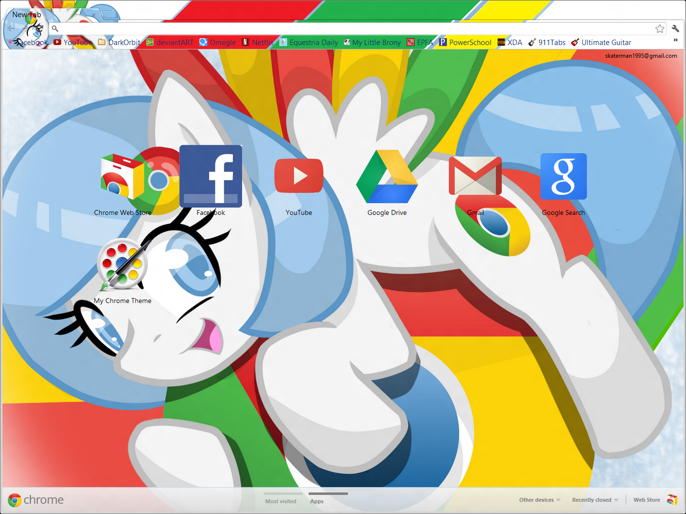 Chrome Pony Theme for Google Chrome by xGodOfModzx on DeviantArt