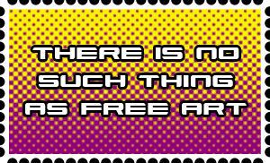 No Free Art Stamp