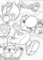 Super Yoshi Galaxy ~ Mario Galaxy 2 Commission by Th3AntiGuardian