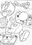 Super Yoshi Galaxy ~ Mario Galaxy 2 Commission