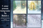 Winter Premade Backgrounds Pack