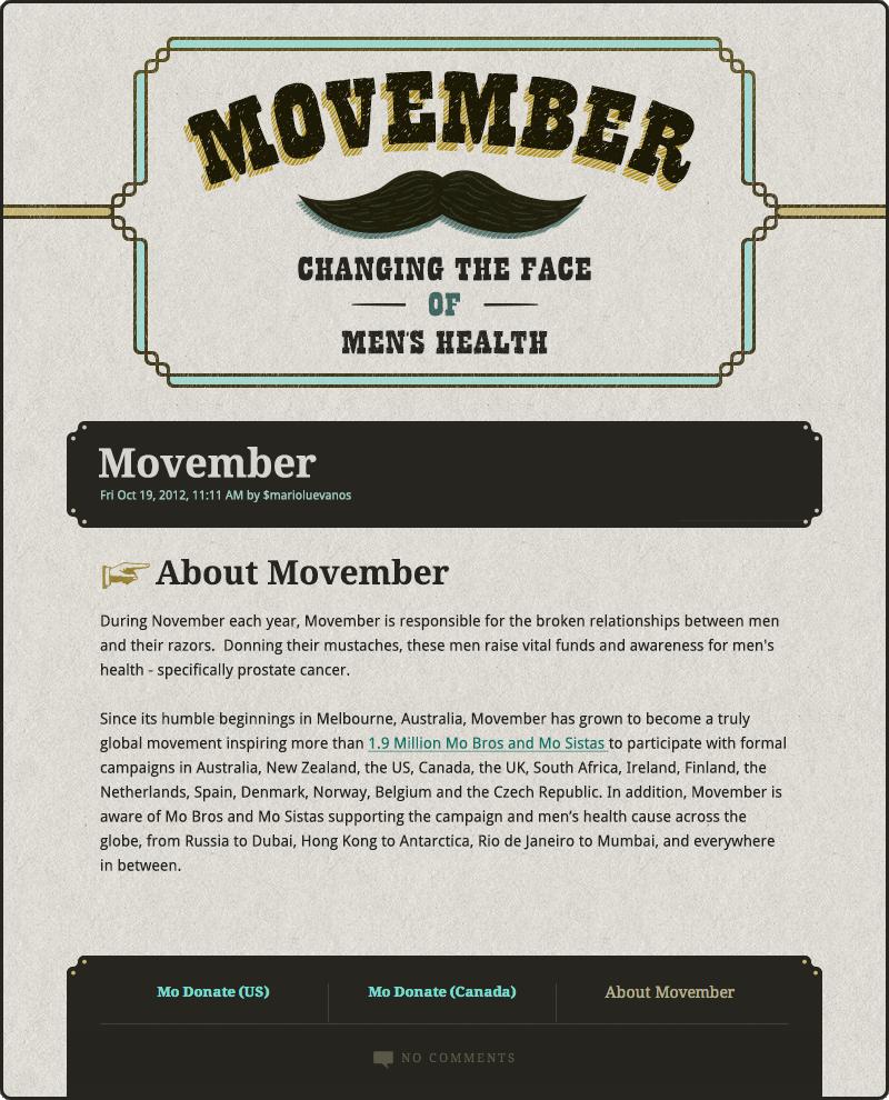 Movember Skin by marioluevanos
