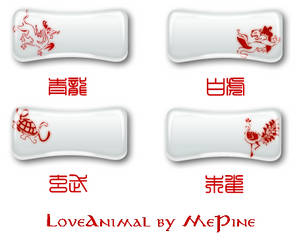 Love Animal Buttons by mepine