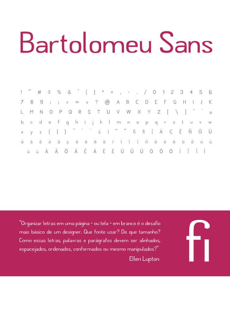 Bartolomeu Sans typeface