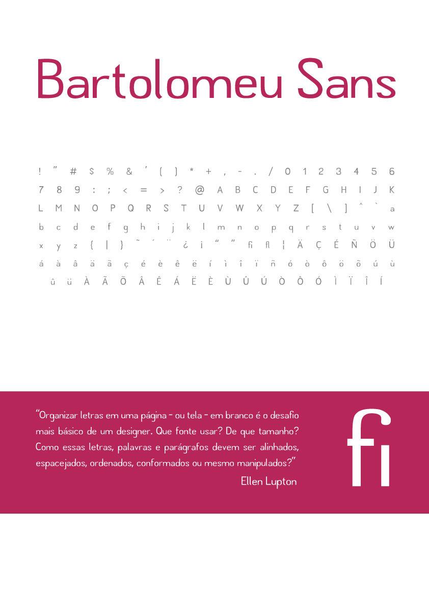 Bartolomeu Sans typeface by xdls
