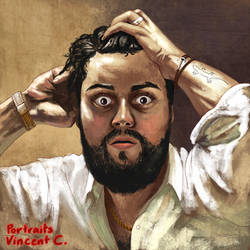 Portrait - Vincent C. ~ making of