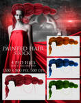 Painted Hair Stock