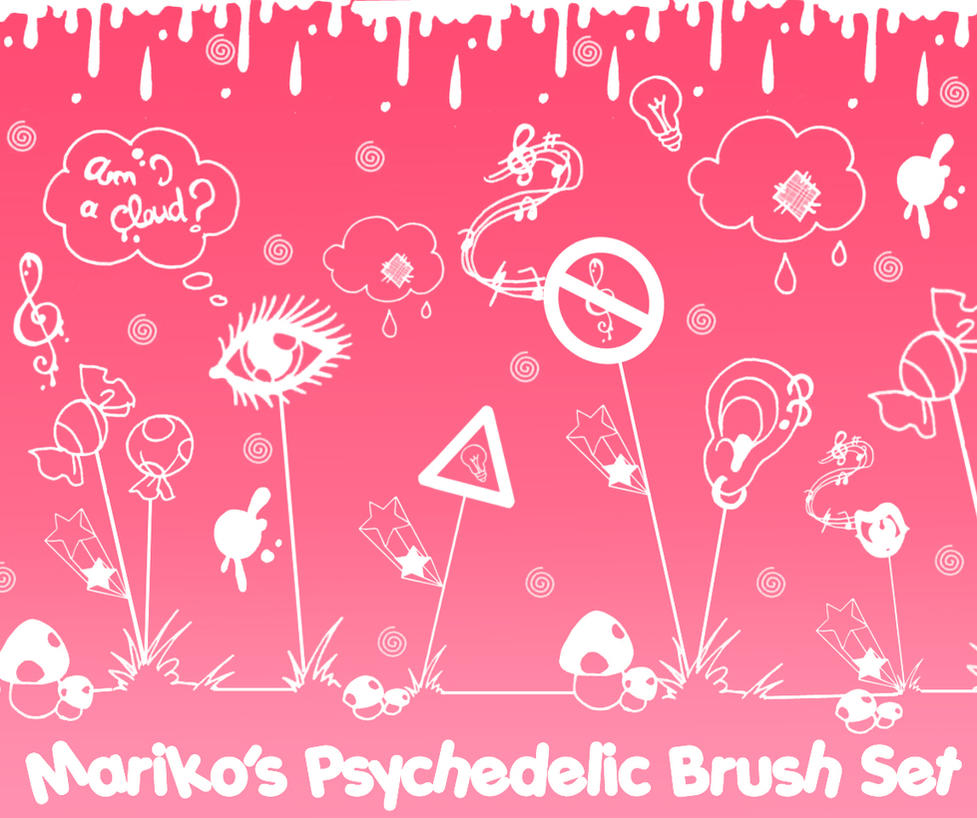 Mariko's Psychedelic BrushSet by mistressmariko