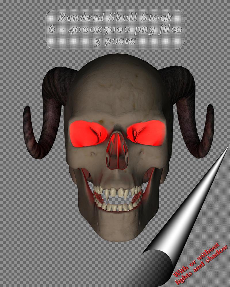 Renderd Skull Stock by Fire-Fuel