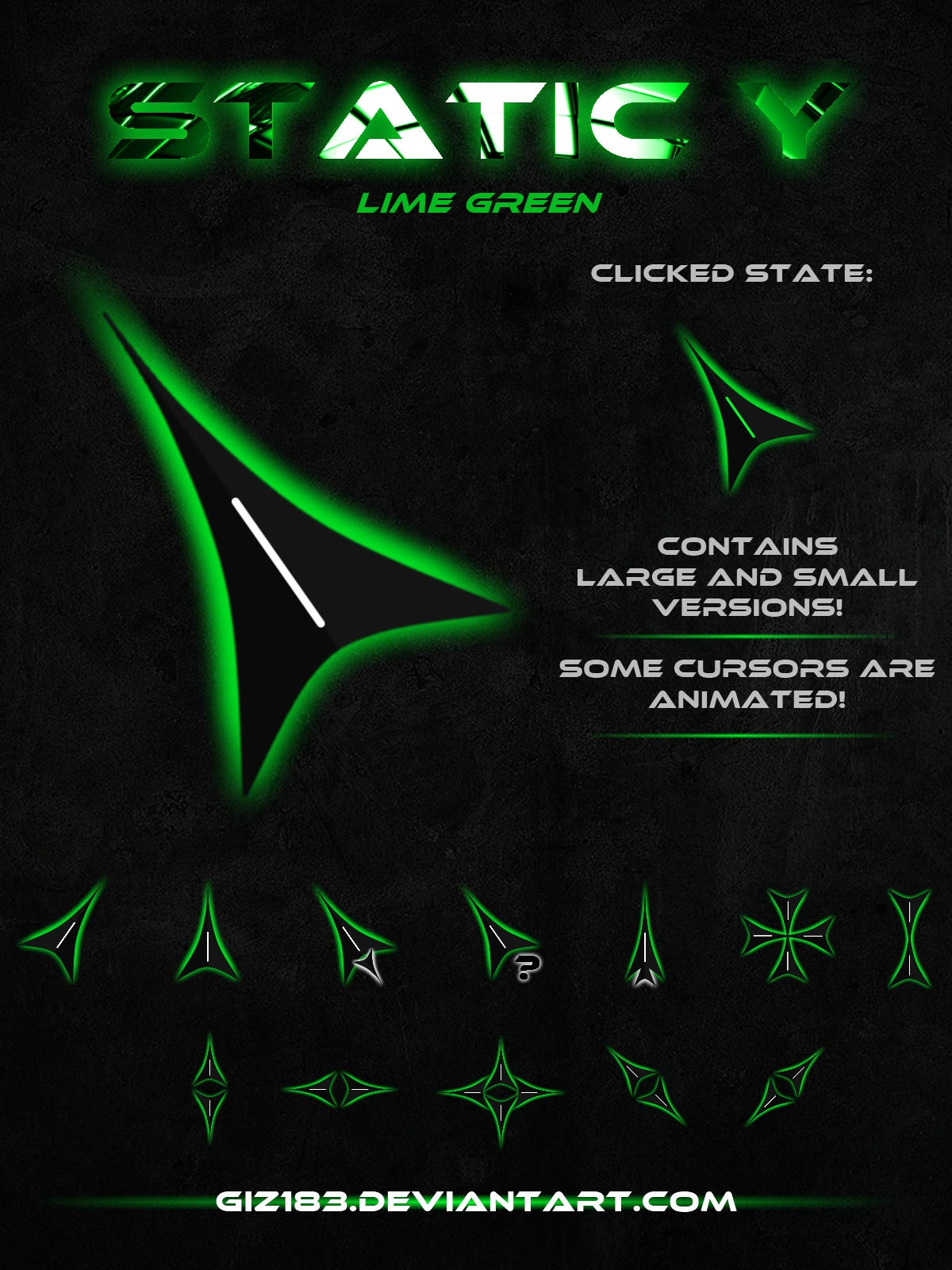 Static Y Lime Green By Giz183 On Deviantart
