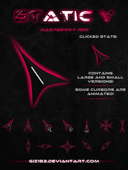Static Y  - Raspberry Red