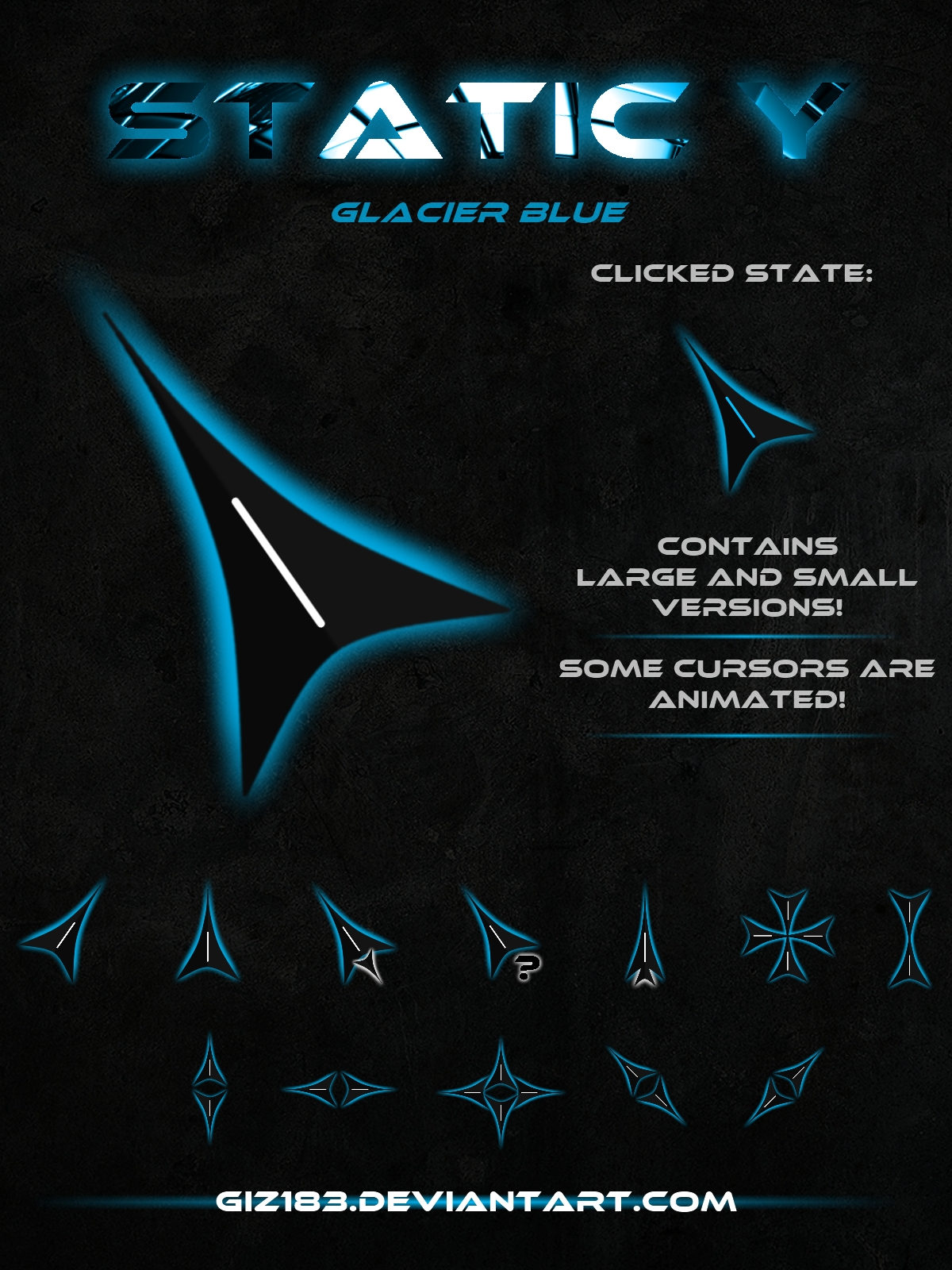 Static Y  - Glacier Blue