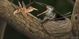Pterosaurs Nest Parasitism